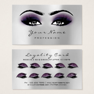 Cartes De Visite Prune de gris d'extension de mèches de maquillage