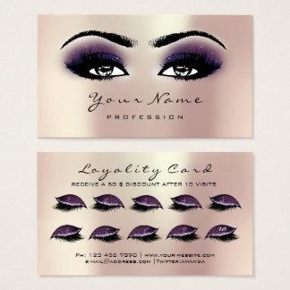 Cartes De Visite Prune de rose d'extension de mèches de maquillage