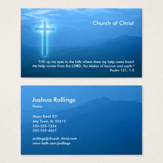 Cartes De Visite Psaume 121 ; 1 croix chrétiennes pipe%