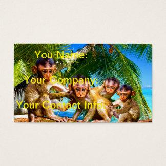 Cartes De Visite Quatre petits singes