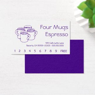 Cartes De Visite Quatre tasses