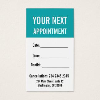 Cartes De Visite Rappel AUDACIEUX minimisé de rendez-vous