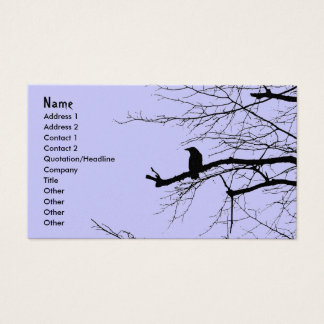 Cartes De Visite Raven sur l'arbre