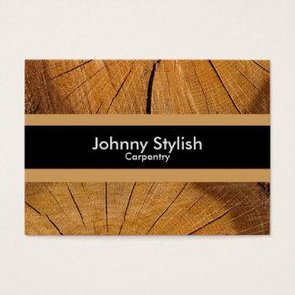 Cartes De Visite Rayure en bois d'affaires de charpentier