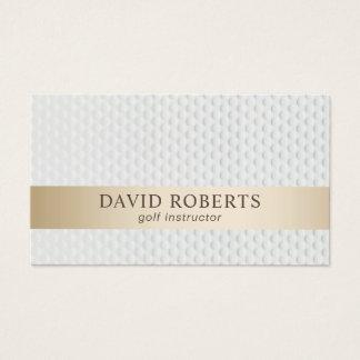 Cartes De Visite Rayure moderne d'or d'instructeur de golf