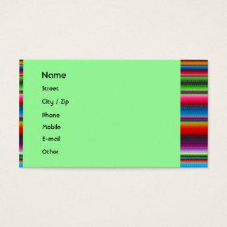 Cartes De Visite Rayures colorées