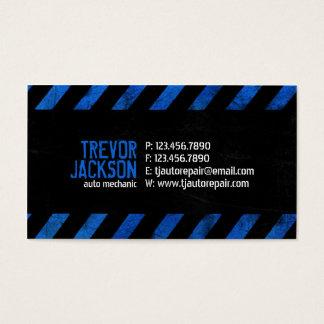 Cartes De Visite Rayures de précaution - bleu