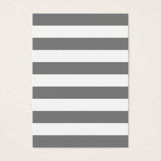 Cartes De Visite Rayures grises et blanches