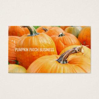 Cartes De Visite Récolte d'automne de citrouilles de correction de