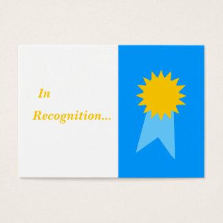Cartes De Visite Récompenses d'étudiant de ruban bleu de professeur
