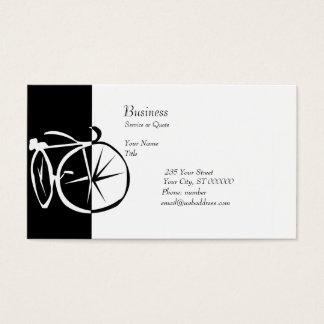 Cartes De Visite Recyclage noir et blanc de vélo de vélo