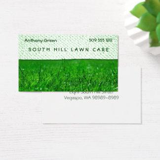 Cartes De Visite Regard de texture d'herbe de pelouse