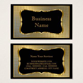 Cartes De Visite Regard élégant moderne en métal de noir d'or
