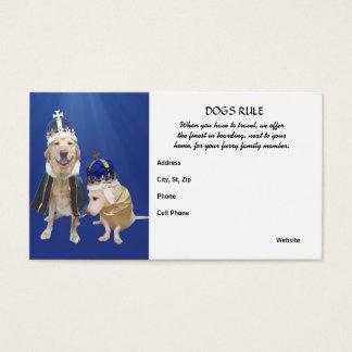 Cartes De Visite Règle de chiens