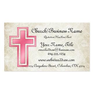 Cartes de visite religieux chrétiens croisés roses carte de visite standard