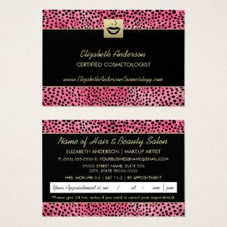 Cartes De Visite Rendez-vous de luxe d'impression de guépard de