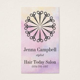 Cartes De Visite Rendez-vous de pastel de ciseaux de coiffeur