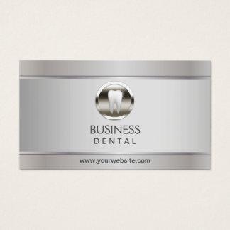 Cartes De Visite Rendez-vous dentaire argenté moderne de dentiste