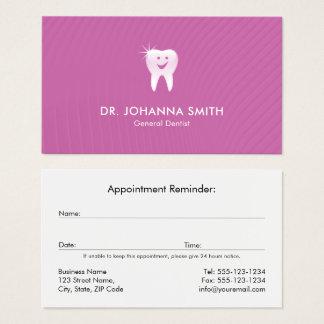 Cartes De Visite Rendez-vous dentaire de sourire de dent de