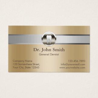 Cartes De Visite Rendez-vous dentaire d'or argenté de rayure de
