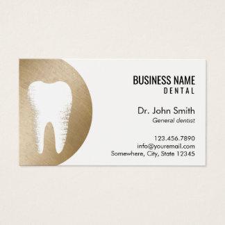 Cartes De Visite Rendez-vous moderne de dentiste d'or de bureau