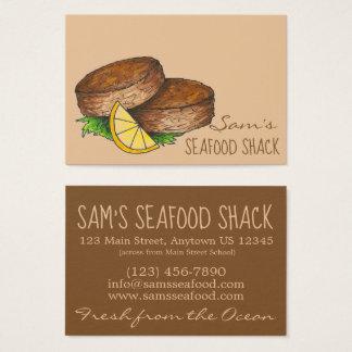 Cartes De Visite Restaurant de fruits de mer de Crabcakes de