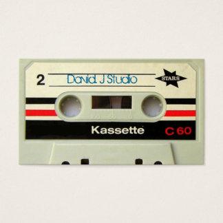 Cartes De Visite Rétro enregistreur à cassettes de cassette