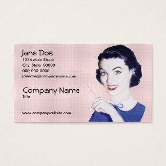 Cartes De Visite Rétro femme de pointage des années 1950