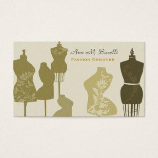 Cartes De Visite Rétro mannequin de couture vintage professionnel