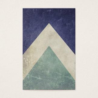 Cartes De Visite Rétro motif de triangle