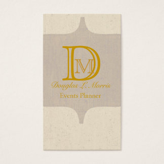 Cartes De Visite Rétro or vintage d'antiquité élégante de