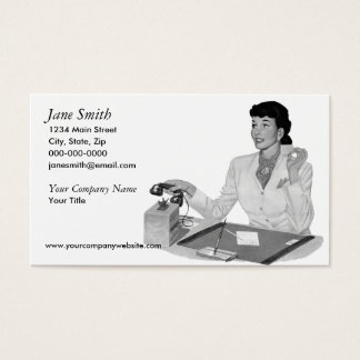 Cartes De Visite Rétro secrétaire