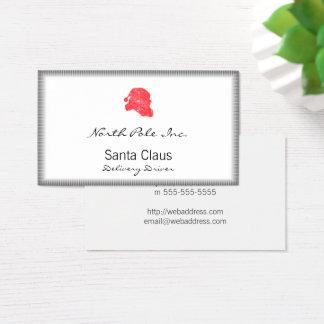Cartes De Visite Rétro silhouette de Père Noël