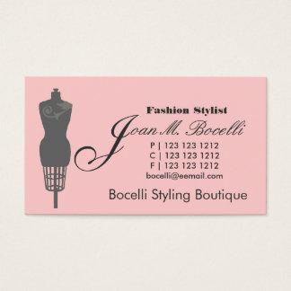 Cartes De Visite Rétro styliste victorien de mode de mannequin sur
