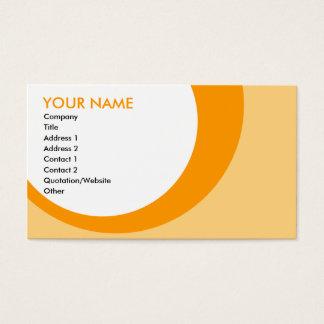 Cartes De Visite rétros anneaux : oranges