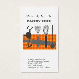 Cartes De Visite Rétros ustensiles de cuisine de cuisson pour le