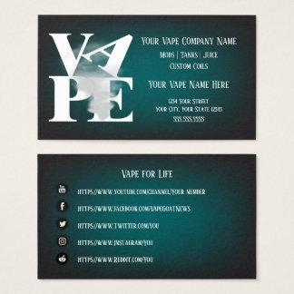 Cartes De Visite Rétros VAPE médias de Social d'affaires de boîte