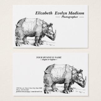 Cartes De Visite rhinocéros de dürer