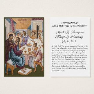 Cartes De Visite Rite orthodoxe bizantin de Pâques épousant les