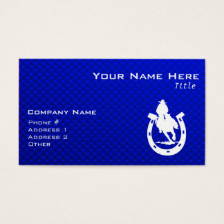Cartes De Visite Rodéo bleu
