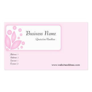 Cartes de visite rose-clair de conception cartes de visite personnelles