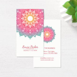 Cartes De Visite Rose de méditation de santé de yoga de fleur de