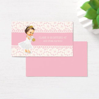 Cartes De Visite Rose d'insertion d'enregistrement de baby shower