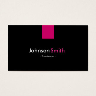 Cartes De Visite Rose rose moderne de comptable