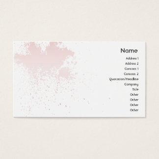 Cartes De Visite Rose sur l'éclaboussure blanche - affaires