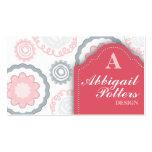 Cartes de visite roses d'abbaye modèles de cartes de visite