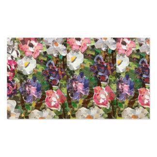 Cartes de visite roses de collage de fleur de carte de visite standard