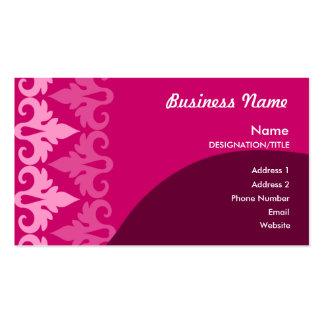 Cartes de visite roses de décor carte de visite standard