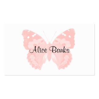 Cartes de visite roses de maquilleur de papillon d modèles de cartes de visite