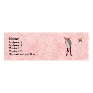 Cartes de visite roses de papillon de faon et de carte de visite petit format